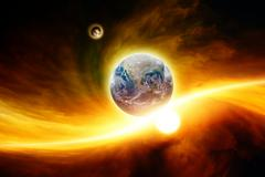 Planet earth in danger Stock Illustration