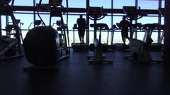 Exercise Room (Panning Shot) Stock Footage