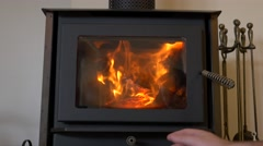 4k Fire Place Adjustment Stock Footage