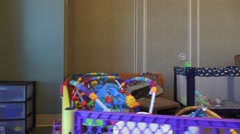 Child Care, Playpen Stock Footage