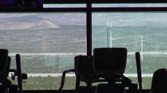 Desert View from Exercise Room Stock Footage