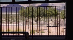 Desert View from Indoor Lap Pool Stock Footage
