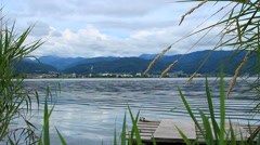 Suwa Lake landscape, Japan. Stock Footage