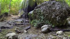 Waterfall Silver Jets, Grand Canyon of Crimea, Crimea, Russia.  Stock Footage