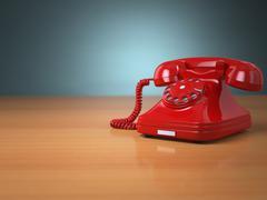 vintage phone on green background. hotline support concept. - stock illustration