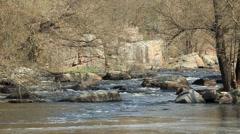 Waterfall on the River Mountain Tikich. Buki village, Ukraine, Full HD Stock Footage