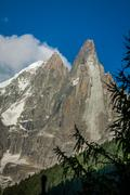 view of dru peak in chamonix, alps, france - stock photo