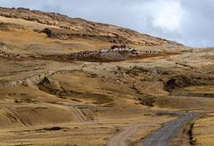 buddhist monastery in tibet. - stock photo