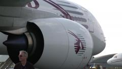 Airbus A350 XWB Engine Close-up Stock Footage