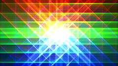 4K Prismatic grid star abstract background loop, rgb, 1 shimmer Stock Footage