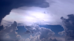 stormy Clouds Time Lapse weather report - stock footage