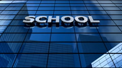 School building blue sky timelapse. - stock footage