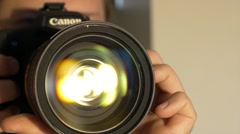 Lens Zoom Effects Stock Footage
