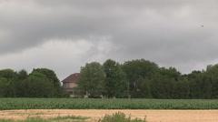 Ominous dark cumulus clouds of fall moving in as season change. Stock Footage