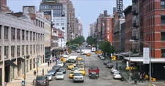 4K Chelsea 14th Street As Seen from the High Line Stock Footage