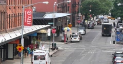 4K Meat Packing District Establishing Shot Stock Footage