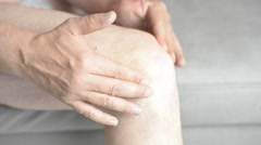 Knee Pain massage Stock Footage