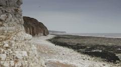 Beach in Bridlington, UK - stock footage