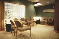 Empty dental office waiting room Stock Photos