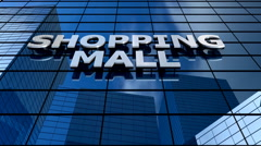 Shopping mall building blue sky timelapse. - stock footage