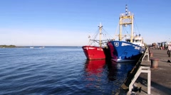 Wexford Harbour Ireland Stock Footage