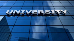 University building blue sky timelapse. - stock footage