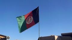 Afghan Flag Stock Footage