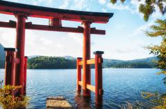 torii gate - stock photo