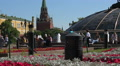 Russia, Moscow citysacape.  Maneznaya Square and Alexandrovski garden. HD Footage