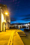 weymouth quay twilight - stock photo