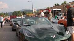 Corvette showcase Stock Footage