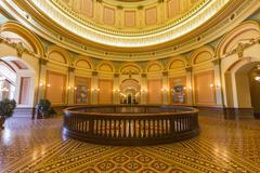 california capitol rotunda second floor - stock photo