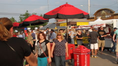 Street Fair food vendors Stock Footage