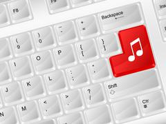 Computer keyboard music symbol Stock Illustration