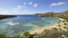 timelapse, hanauma bay, honolulu, oahu, hawaii - stock footage