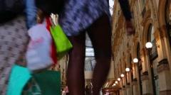 Italy Milan galleria vittorio emanuele Stock Footage
