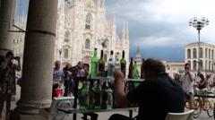 Italy,  Milan Duomo Stock Footage