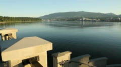 Burrard Inlet, Lions Gate Dawn Stock Footage