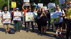 #1 protest rally for immigrant children at the White House in Washington, DC Stock Footage