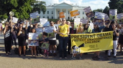 #3 protest rally for immigrant children at the White House in Washington, DC Stock Footage
