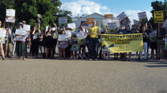 #2 protest rally for immigrant children at the White House in Washington, DC Stock Footage