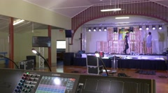 4k Sound Console at Event - Crane Shot Stock Footage
