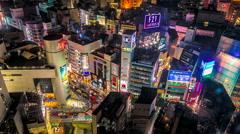 Neon Lights in Shibuya, Tokyo, Japan - stock footage