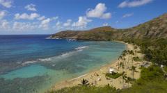 timelapse, hanauma bay, honolulu, oahu, hawaii. - stock footage