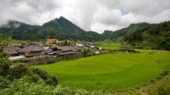 Tradtional vietnamese village Stock Photos