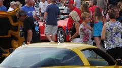 Corvette Car Rally - stock footage