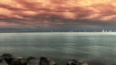 4K Blue Ribbon Sailing Boat Race in Lake Balaton Hungary 13 stylized Stock Footage