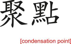 Chinese Sign for condensation point - stock illustration
