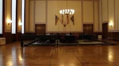 """The surrender room in the German-Russian Museum """"Berlin-Karlshorst"""" Stock Footage"""