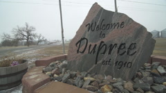 On the Cheyenne River Reservation in Dupree, SD Stock Footage